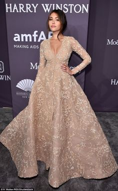 Fashion royalty! Madison Beer cut a regal figure at the amfAR Gala in New York City on Wed...