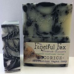 Licorice! Made using the sunflower soap recipe.  Organic bar fragranced witih pure essential oils.