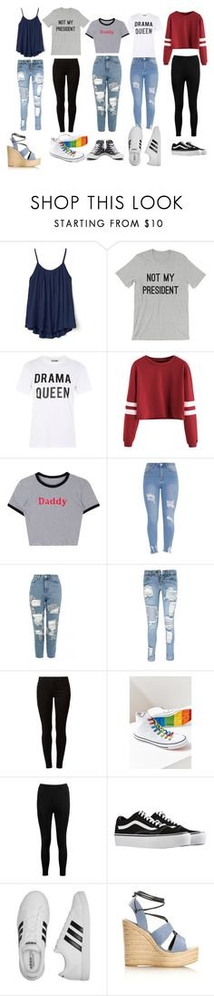 """outfit ideas"" by makayla-maas ❤ liked on Polyvore featuring Gap, Love, Topshop, Boohoo, Dorothy Perkins, Converse, Vans, adidas and Yves Saint Laurent"