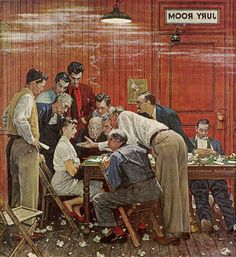 Norman Rockwell Best Paintings Ever | Norman Rockwell's The Jury (1959)
