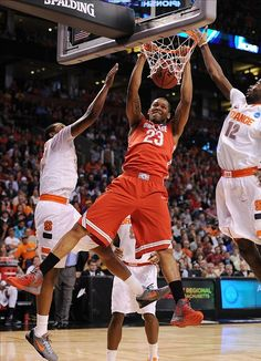 FINAL: Ohio State Buckeyes 77, Syracuse Orange 70. OSU will play North Carolina or Kansas Saturday in the Final Four. (Photo by US Presswire.)