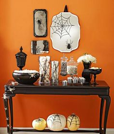 Bring the Halloween spirit into your home with these centerpieces, wreaths and decorating ideas.
