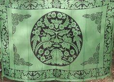 Rayon Hippie Tapestry Fabric Bohemian - Green Man. $19.00, via Etsy.