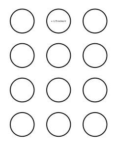 Macaron 1 75 Inch Circle Template Google Search I Saved This To