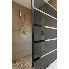 The Gridscape collection by Coastal Shower Doors has been widely embraced, not just by designers and those in the industry, but by individuals looking to add a little flair to their bathroom design. One key to the success of the design is the versatility. Dream Bathrooms, Beautiful Bathrooms, Modern Bathroom, Small Bathroom, Modern Shower, Contemporary Shower, Bad Inspiration, Bathroom Inspiration, Coastal Shower Doors