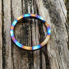 Titanium Split Ring with Ring Anodizing