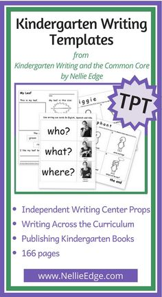 Kindergarten handwriting templates! Join thousands of kindergarten teachers who have studied writing with award-winning kindergarten teacher and author Nellie Edge. You have asked for these writing templates from Kindergarten Writing and the Common Core: Joyful Pathways to Accelerated Literacy.   Initial package features templates from 3 high-impact strategies at big savings! | #nellieedge #kindergartenwritingtemplates #bestpractices #commonCoreWriting #printables #nellieedgeontpt