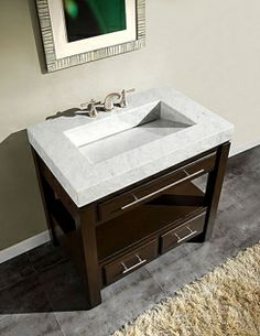 What about this modern trough sink in white marble?