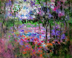 "For Sale: California Springtime-oil by Jean Vadal Smith Bentson | $100 | 10""w 8""h | Original Art | https://www.vangoart.co/jeanvadalsmith/california-springtime-oil @VangoArt"