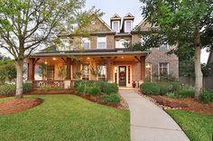 Cypress, TX:  Front porch column-work
