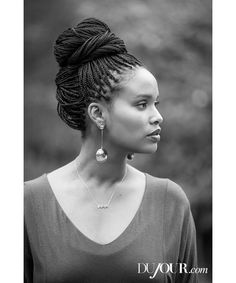 """Parenthood"" actress Joy Bryant and her husband, stuntman Dave Pope, sat down with DuJour to talk about their marriage and life as business partners. On Joy Bryant: Dolman pocket tee, $115, BASIC TERRAIN. Earrings, price upon request, ROBERT LEE MORRIS. Bryant's own necklace."