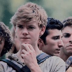 Imagine: Newt waiting nervously by the doors for you and Minho to come back from your run so he can make sure you are safe.