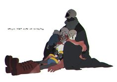 sans papyrus and gaster