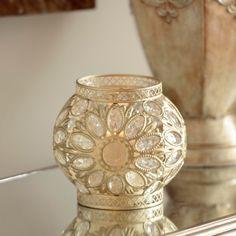 Champagne Jeweled Lantern | Kirklands