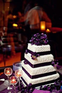 Love this purple and shape of cake