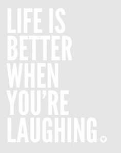 Laughing is the best