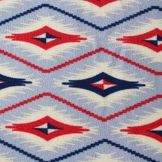 Anti- Pill Fleece Fabric- Southwest Diamond Stripe