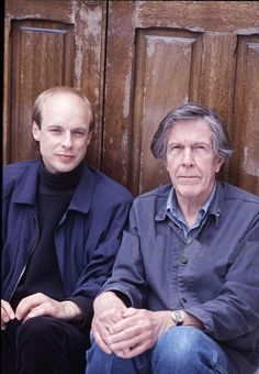 Another pic of Brian Eno and John Cage in London circa 1982