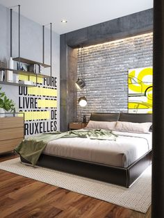 Irresistible charms appear from the industrial bedroom. See how that becomes spellbinding in our 10 industrial bedroom ideas here. Industrial Bedroom Design, Industrial Interiors, Industrial Living, Industrial Furniture, Industrial Stairs, Industrial Closet, Industrial Windows, White Industrial, Industrial Restaurant