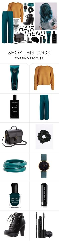 """""""blue hair - don't care"""" by nellylein ❤ liked on Polyvore featuring beauty, Space NK, Rossano Ferretti, Maison Margiela, The Cambridge Satchel Company, ZENZii, Abbott Lyon, Deborah Lippmann, Marc Jacobs and Charlotte Russe"""