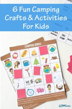 Fight camping boredom with these fun crafts and activities. Explore nature, tell stories and make memories to last a lifetime. Your kids will be begging to go on a camping trip every weekend! | #lifeasmama #camping #crafts #diy #kidscrafts #family Summer Crafts For Kids, Summer Activities For Kids, Camping Activities, Camping Crafts, Summer Kids, Family Activities, Projects For Kids, Fun Crafts, Camping Bingo