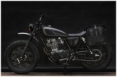 WrenchMonkees | MONKEE #60, Yamaha SR 400 | Custom motorcycle | Matte black. so dark and so beautiful...