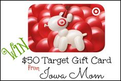 $50 Target Gift Card Sweepstakes! - One lucky reader will receive $50 Target Gift Card!  1/24
