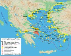 Liga de Delos (Império ateniense) depois da Guerra do Peloponeso em 431 a.C.