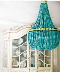 Bright Beaded Chandelier -- DIY