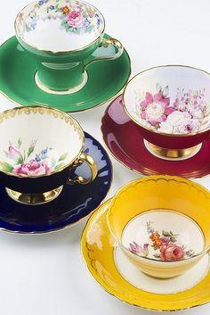 Vintage tea cups.