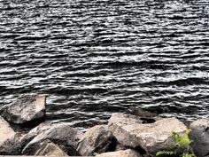 angry lake and fading green