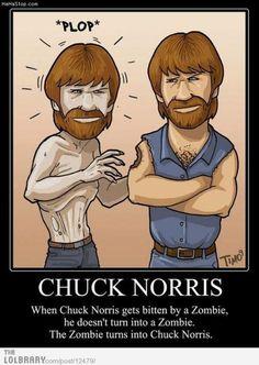 When Chuck Norris gets bitten by a zombie...