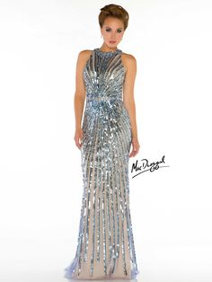 silver gatsby prom dress | Carly Steel Wears Mac Duggal to Cannes Great Gatsby Premier