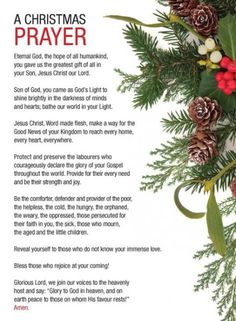 Christmas Prayer, Christmas Program, Christmas Poems, Meaning Of Christmas, Christmas Blessings, Christmas Messages, Christmas Greetings, Christmas Traditions, All Things Christmas