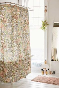 Plum U0026 Bow Cecilia Floral Shower Curtain