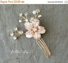 30% OFF - ENDS MON. Boho Gold Champagne Leaf Flower comb, Vintage Bridal haircomb, 1920s Gold Hair comb, Vine Silver Hair comb, Wedding Hair by LottieDaDesigns on Etsy https://www.etsy.com/listing/292021989/30-off-ends-mon-boho-gold-champagne-leaf