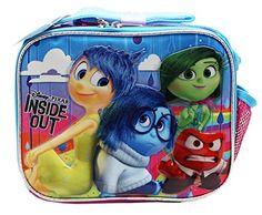 Disney Pixar Inside Out Lunch Bag: Lunch Bag.) x x Zipper Closure. 11th Birthday, Inside Out, Disney Pixar, Shoulder Strap, Lunch Box, Thing 1, Handle, Closure, Zipper