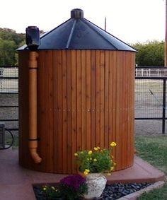 Hide a Rainwater Harvesting Tank in style!
