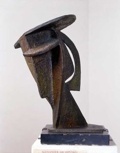 ALEXANDER ARCHIPENKO Bronze sculpture of a head  Bronze