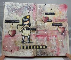 Gorjuss art journal page- Have You Seen My Heart?