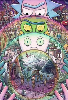 El Ricks deben ser costumbre loca Rick y Morty ilustración
