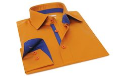 Navy lining orange bastille shirt Dress Shirts For Women, Men Dress, Shirt Dress, Mens Linen Outfits, Casual Outfits, Menswear, Mens Fashion, Formal Fashion, Knights