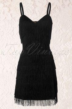 Trashy Diva - 20s Zelda Fringe Dress in Black