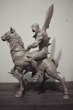 ArtStation - Four Horsemen of the Apocalypse, Sadan Vague Polymer Clay Sculptures, Sculpture Clay, Apocalypse Tattoo, Horsemen Of The Apocalypse, D&d Dungeons And Dragons, Comic Con Cosplay, Creature Design, Fantasy Creatures, Cool Art