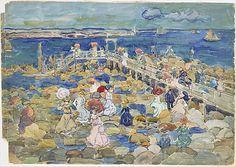 Low Tide, Beachmont - Maurice Prendergast