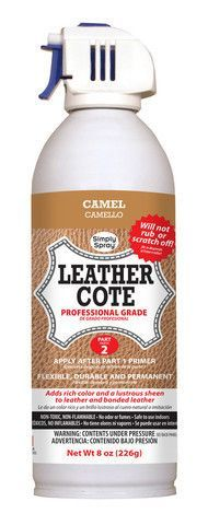 DON'T REPLACE IT - SPRAY IT NEW! Simply Spray Leather Dye is the perfect solution to renew that piece of leather furniture that you've considered replacing. This spray paint is especially formulated f Furniture Projects, Furniture Makeover, Diy Furniture, Furniture Repair, Upholstered Furniture, Pallet Projects, Diy Projects, Grey Leather, Leather Sofa