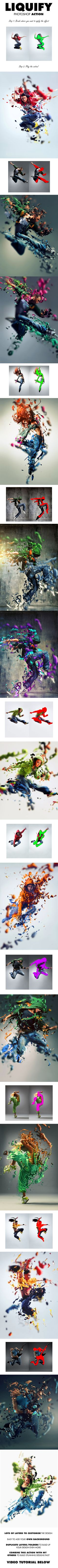 Liquify Photoshop Action - Photo Effects Actions #Photoshop #photography #cool #fun #ideas #design