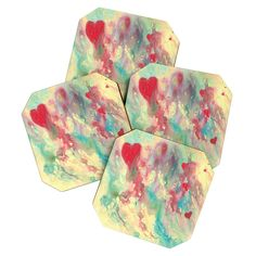 Rosie Brown Breaking Heart Coaster Set | DENY Designs Home Accessories
