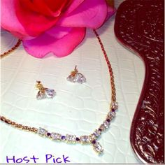 14K Gold, Sapphire & Crystal Necklace/Earring Set % Genuine, 14K Gold Necklace & Earring Set Enhanced with Sapphire Stones & Glistening Swarovski Crystals. Lustrous with 9 Glistening Crystals & 7 Precious Blue Sapphires. The Set together Weighs 22 Grams. Comes in Original Box with Built in Earring Stand.✔️Do not ask me to Send Emails to Answer more Questions. I Will Communicate with Everything you Want Right Here on Posh. I Will NOT Use Your Pay PaL. SELLING ON POSHMARK WITH THE FREE…