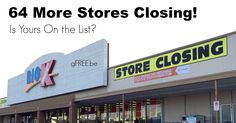 NEWS FLASH! 64 MORE Kmart Stores Closing!! Is Yours on the List?? - http://gimmiefreebies.com/news-flash-64-more-kmart-stores-closing-is-yours-on-the-list/ #Breaking #Coupon #Coupons #News #Newsflash #Shop #Shopping #ad
